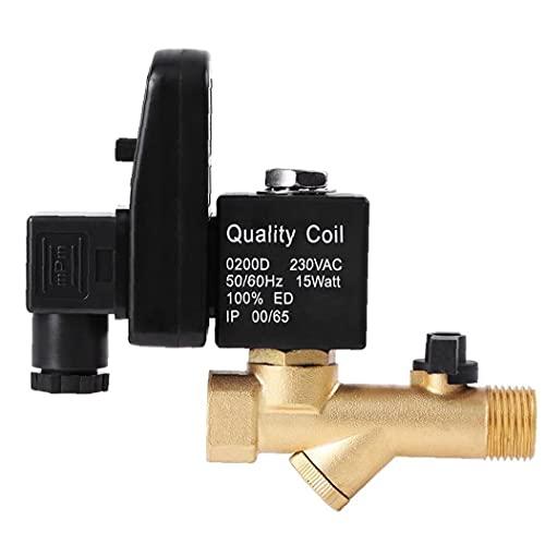 G1   2 DN15 Válvula de drenaje mecedora automática de la válvula de aire de la válvula de aire para el compresor de aire Gestión de condensado Válvula separada (AC 230V) 21mm