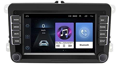 Autoradio avec écran Tactile pour Volkswagen Polo, Golf, Passat, Touran... (GPS, Bluetooth, WiFi, MirrorLink)