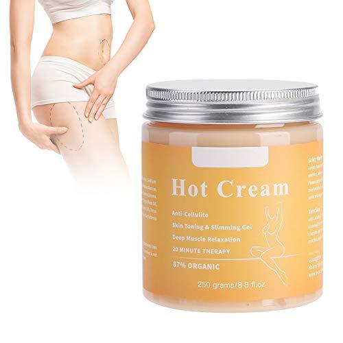 Anti-Cellulite, Massage-Cellulite-Creme, straffende Creme aktiviert die Haut zur Verbesserung der Hautkontur, natürliche Cellulite-Creme für Oberschenkel, Gesäß, Magen