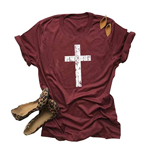Deyuanjiagou - Camiseta de Manga Corta para Mujer, diseño con Texto en inglés Be Still and Know - - Medium