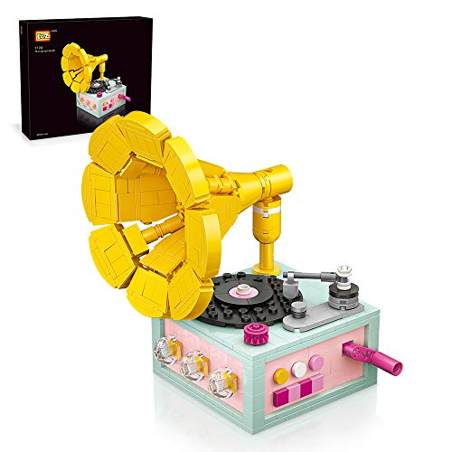 LOZ Creative Building Block Toys Gramophone Kit Toys for Girls and Boys and Adults recalling Old Days Products DIY Creative Bricks Set for Ages 6-12 and Up (432 Pieces)