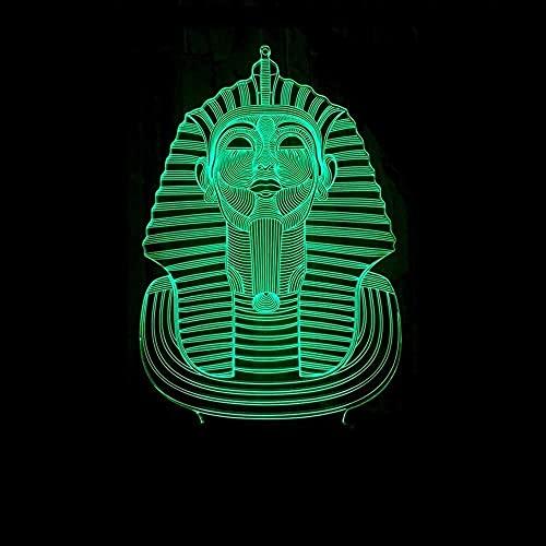 JAOSY Sphinx LED luz de Color Degradado 3D estéreo táctil Remoto USB luz de Noche mesita de Noche Decorada con imaginación Regalo de Cumplea?os 20 * 13 cm