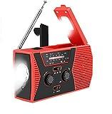 swonuk Radio Solaire Portable, Main Manivelle Self Powered AM/FM/NOAA Radio, Dynamo Météo Radio Appareil...