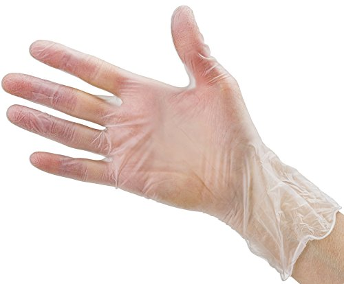 Disposable Vinyl Gloves Medium Non Latex Powder Free 100 Count Clear