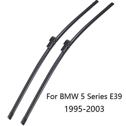 Lianlili Cuchillas de limpiaparabrisas de Parabrisas para BMW 5 Series E39 E60 E61 F07 F10 F11 G30 G31 Caucho de limpiaparabrisas (Color : 1995 2003 E39)