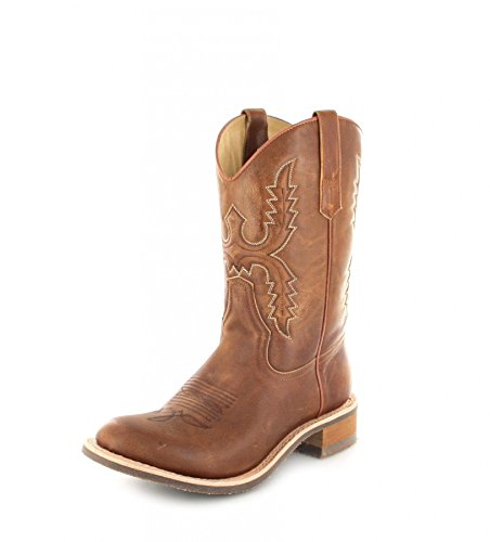 Sendra Boots 11615 Olimpia 023 Lederstiefel für Damen Braun Westernreitstiefel, Groesse:37