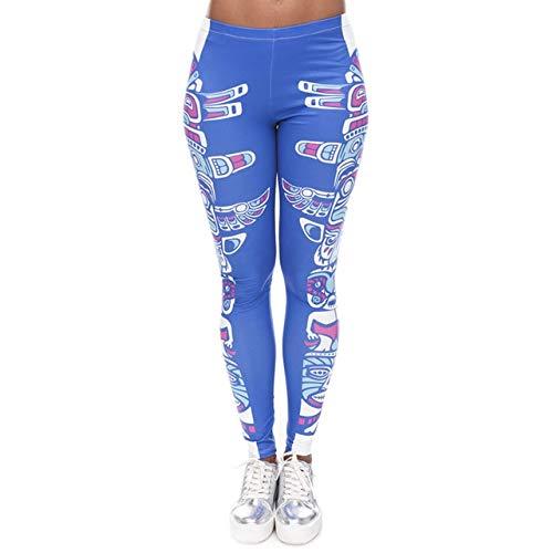 LNDYJK merk vrouwen mode legging Aztec ronde print legging slanke legging met hoge taille vrouw broek One Size lga40582