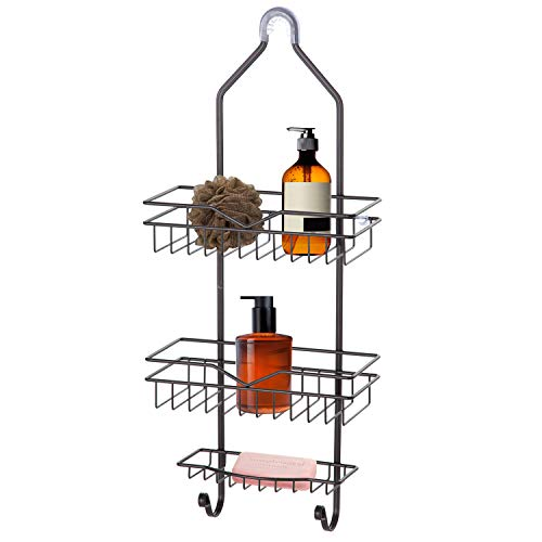 Home Zone Living Shower Caddy - Over the Shower Head Bathroom Organizer (Oil-Rubbed Bronze)