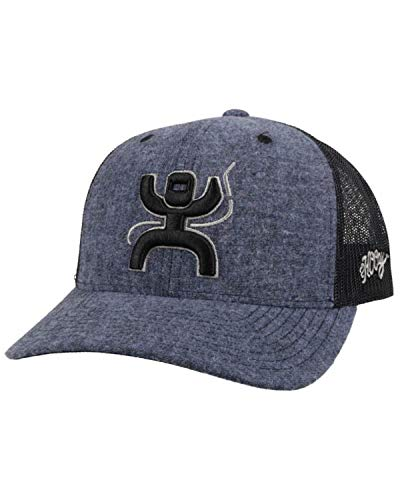 HOOEY Arc Blue and Black 6 Panel Trucker Style Cap
