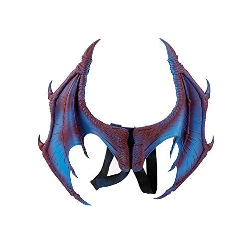 Proumhang Disfraz de Demonio para niños Cosplay Alas de dragón Disfraz de Carnaval de Mardi Gras de Halloween Disfraz del día del niño-Púrpura
