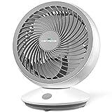 KEYNICE サーキュレーター 首振り 静音 パワフル送風 扇風機 小型 卓上 壁掛け 6畳 風量3段階調節 強力換気 省エネ 5枚羽根 USB電源 ホワイト