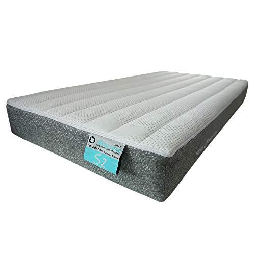 TREBOL Colchón S2 Colecho Tapa Normal, Sleep Care, Blanco/Gris, 57 x 117