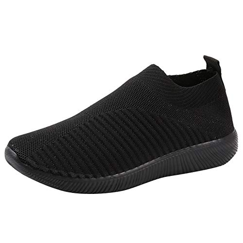 Chaussures Femme Ete Confortable Pas Cher Soldes Baskets Basses Plate Running Jogging Sport...