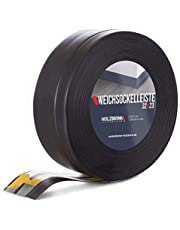 HOLZBRINK zelfklevende zachte plint, zwart PVC lamel, 32x23mm, 10 m
