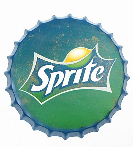 """2but Sprite Bottle Caps Metal Tin Signs Cafe Beer Bar Decoration Plat 13.8"""" Inches Wall Art Plaque Vintage Home Decor"""