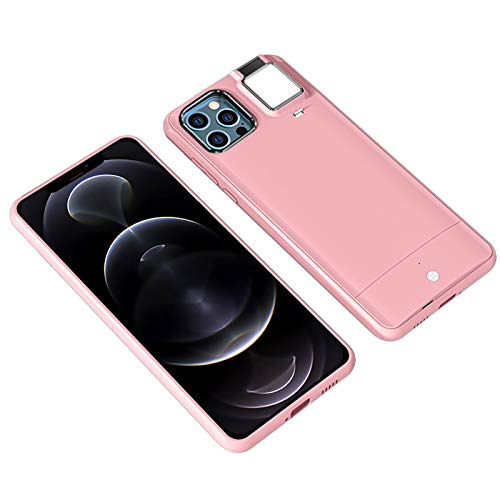 Kompatibel Mit Iphone 11/11 Pro/12/12 Pro Max Selfie Ring Light Case FüR Live-Stream/Make-Up/Youtube-Video - Light Up Case Selfie Illuminate FüR Frauen[3 Beleuchtungsmodi]
