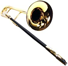 Tromba Metallic Gold Plastic Trombone with Free Stand, Bag and Maintenance Kit