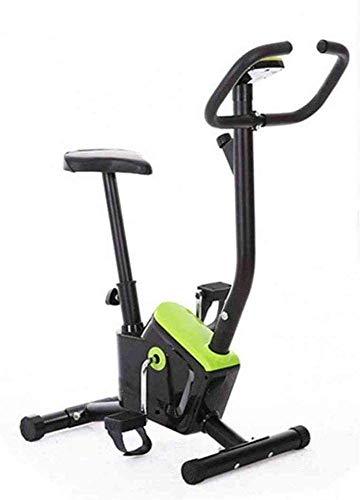 Plegable Bicicleta estática electromagnética, Equipos de Ejercicios Cerrados, Entrenador y Entrenador Vertical Fijo Plegable para Ejercicios en el hogar y el Ejercicio aeróbico,Green