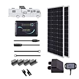 Renogy 200 Watts 12 Volts Monocrystalline Solar RV Kit Off-Grid Kit with Adventurer 30A PWM LCD Charge Controller+ Mounting Brackets+ Male and Female Connectors+Solar Cables+Cable Entry housing