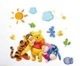 Kibi Disney - Adesivo da Parete Winnie the Pooh e Amici Adesivi Murali Winnie the Pooh Stickers Murali Winnie the Pooh Stickers Murali Camerette Bimbi disney Adesivi Muro Winnie Pooh
