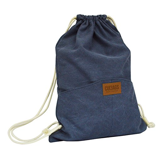 C-BAGS SACCO Jeans Beutel Sportbeutel Turnbeutel Beuteltasche Rucksack (4.3 Navy)