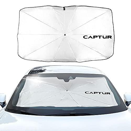 BAOBUM Protección UV para Parasol Parasol Parasol Compatible con Renault Captur Kadjar Clio Megane Scenic ZOE Automóvil Ventana Cubierta de protección Solar Parasoles para Coche (Farbe : For Captur)