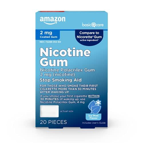 Amazon Basic Care Nicotine Polacrilex Coated Gum,...