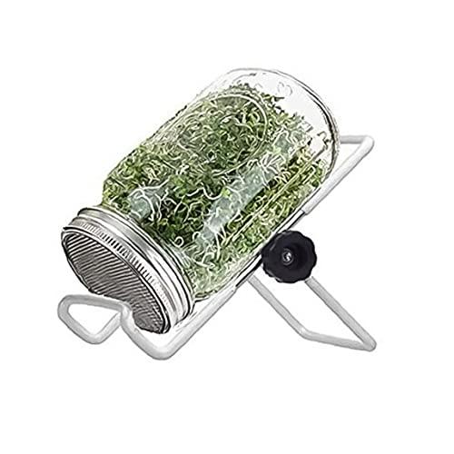 TOPofly Los tarros de albañil del Brote Tarro germinador de Semillas germinación Kit Kit del Brote con la Tapa del Soporte para el Cultivo de Alfalfa Brócoli brotes de Haba 500ml