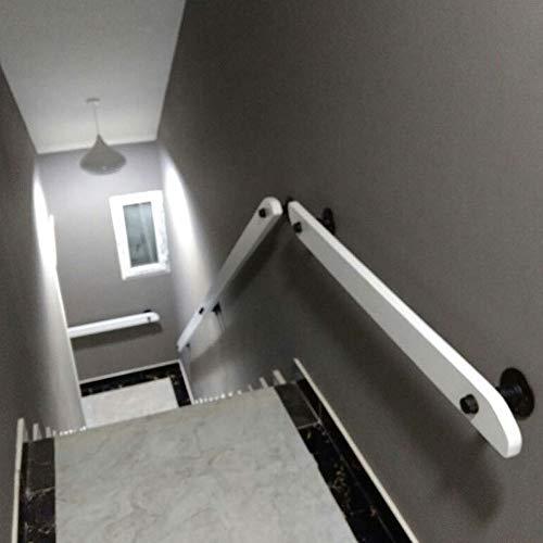 Treppengeländer Geländer Weiße Geländer, Massivholz-Wand befestigter Treppenhandlauf, Start Geländer Balustrade Schritte for Indoor Villa Einfache Installation Treppen Kinder Gehen (Size : 50cm)