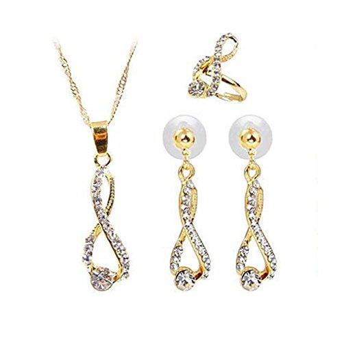 GYJUN Boucle d'oreille de mode petit diamant pendentif collier mis la bague , one size