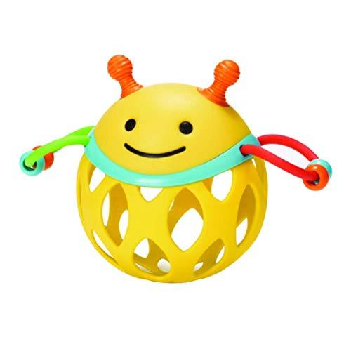 FENGLI Juguete de Juguete fácil, 1pcs theether traqueteo Lindo Bola de Juguete Mano Bola de Bola de Juguete (Color : Yellow)