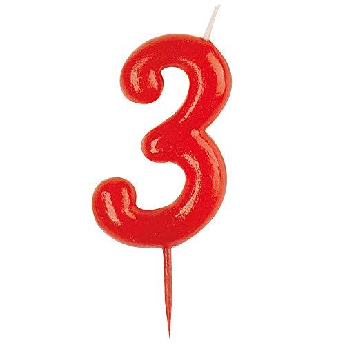 Dekora - vela de cumpleaños numero 3.
