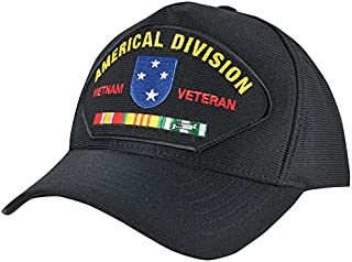 Medals of America Army 23rd Americal Division Vietnam Veteran USA Made Hat Black One Size