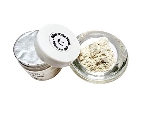 Slice of the Moon: Iridescent Gold Mica Powder 28g, Natural Mineral Mica, Cosmetic Grade For Lipstick Lip gloss Bath Bombs Epoxy Resin Face Blush Powder Eye pencil Dye Pigments Candle Making