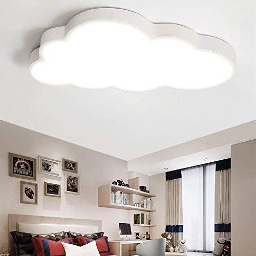 LED Deckenleuchte Kinderzimmer Kinderzimmerlampe mädchen Schlafzimmer Wolke babyzimmer (stufenloses Dimmen, Weißer Rand(50 * 28cm)36W)