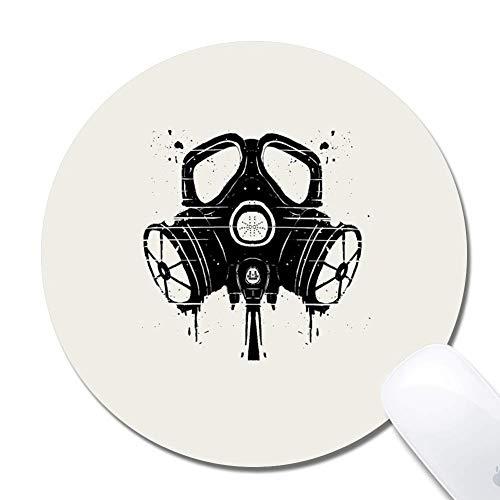 Gasmaske Zeichnung Erweiterte ergonomische Gaming-Mauspad, Mauspad, Gummi Runde 200X3Mm Mauspad-Gasmaske Zeichnung