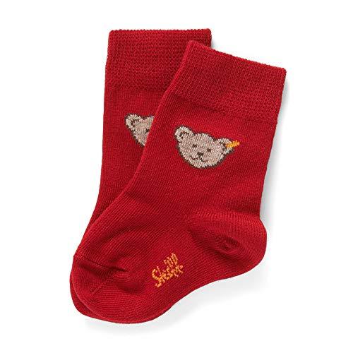 Steiff Socken, Calcetines para Bebés, Rojo (Tango Red 4008), 15 (Talla del fabricante: 014)