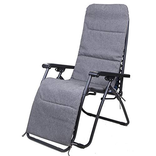 Zero Gravity se Pliant préside la Chaise Longue de transat, siège de Coussin épais Gris de Relaxant de Jardin for l'utilisation de Salon de Jardin, Chaise de gravité zéro de lit de Soleil, Max.250kg