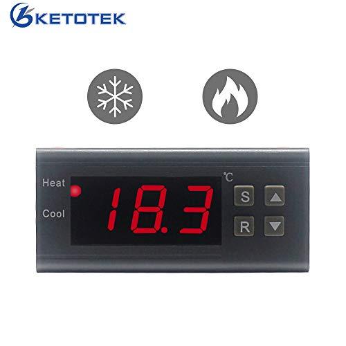 KETOTEK Slimme temperatuurregelaar 220V 10A Verwarming en koeling LED Digitaal Automatisch Koelkast temperatuur Regulator Thermostaat