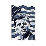 John F Kennedy Leinwand-Kunst-Poster und Wandkunstdruck,