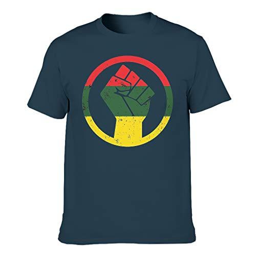 Herren Schwarze Leistung ERHÖHT Baumwolle T-Shirt - Urlaub Hemd Navy XL