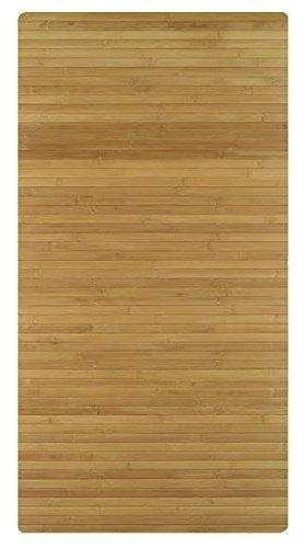 Kleine Wolke 5043202455 Holzmatte Bambus, 60 x115 cm, natur, farblich sortiert