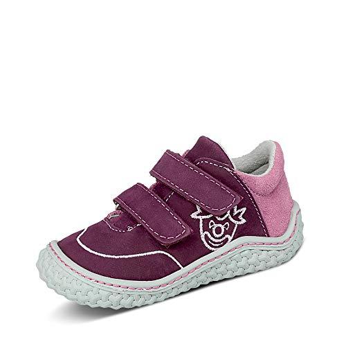 RICOSTA Kinder Low-Top Sneaker FIPI von Pepino, Weite: Mittel (WMS),Barfuß-Schuh, Klett-Verschluss Kinder Maedchen,Merlot/Purple,22 EU / 5.5 Child UK