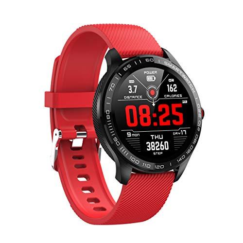 HJKPM Smartwatch, IP68 wasserdichte Art Und Weise Sportgeschäft Intelligente Uhr Mit EKG PPG HRV Mehrere Intelligente Funktionen Und Built-In Precision Motion Sensor,F