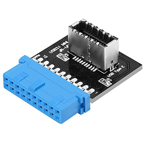 JoyReken - USB 3.0 (3.1 Gen 2) Internal (19-Pin) Motherboard Header to Type E Header A-Key 20 Pin Front Panel Adapter for USB Type C Motherboard