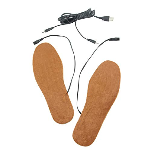 EKAN Beheizbare Einlegesohlen USB Winter Wärmende Schuheinlage (L)