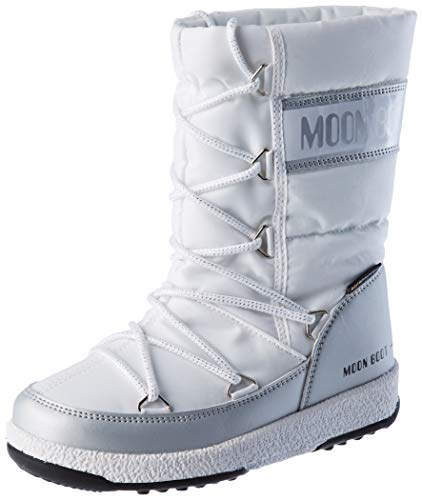 Moon-boot Jr G.Quilted WP, Snow Boot Fille Multicolore White Silver 31 EU Larga