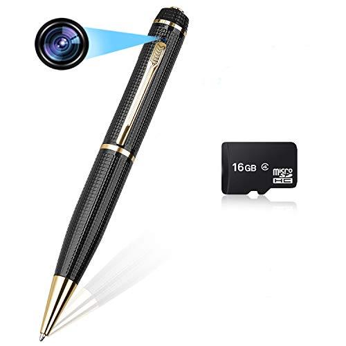 Hidden Spy Pen Camera,HD 1080P Spy Camera Pen Portable Hidden Camera Built in 16GB SD Card