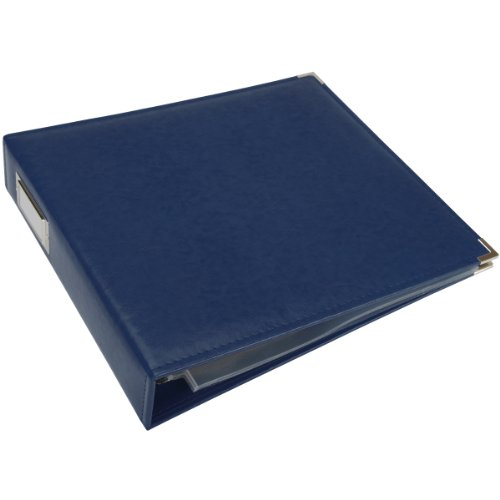 We R Memory Keepers Classic Leather 3-Ring Binder Album, 12 by 12-Inch, Cobalt