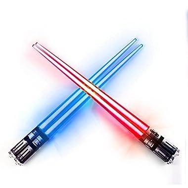 Sabers Chop Lightsaber Led Light Up Chopsticks 2 Pair Red Blue